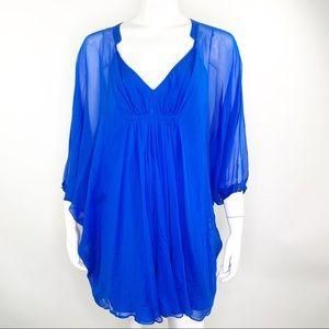 Diane Von Furstenberg Fleurette Silk Tunic Dress